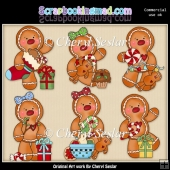 Ginger Friends Christmas Frolic ClipArt Collection