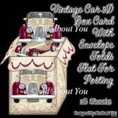 Vintage Car 23 3D Box Card Kit
