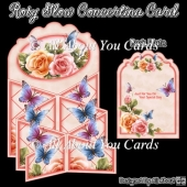 Rosy Glow Concertina Card