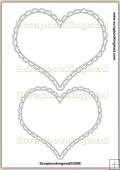 Heart Cameo Template Overlay in 5 Sizes PDF Sheet