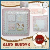 Baby Girl Rounded Corner Fold Card Kit