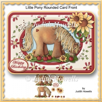 Little Pony Rounded Card Front