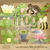 Frog Crossing Clip Art Download