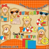 Chubby Cubby Summer Time Fun ClipArt Graphic Collection