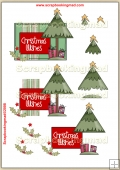 Christmas Tree Wishes PDF Decoupage Download