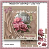 Roses With Satin Drapes Card Front