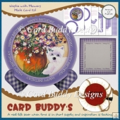 Westie with Flowers Plate Card Kit