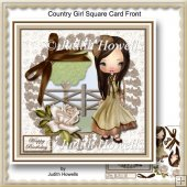 Country Girl Square Card Front