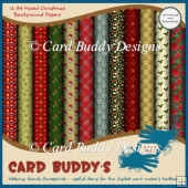 Twelve A4 Mixed Christmas Background Papers – CU/PU