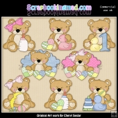 Sweet Stuffins Baby Bears ClipArt Collection