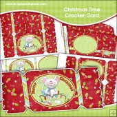 Christmas Time Cracker Card Download