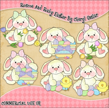 Roscoe and Ruby Easter ClipArt Graphic Collection