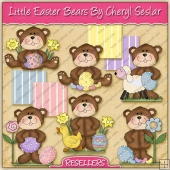 RESALE ART WORK - Little Easter Bears Collection