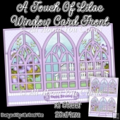 A Touch Of Lilac Window Card Front