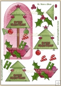 HO HO HO Merry Christmas PDF Decoupage Download