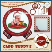 Naughty or Nice Christmas Baby Plate Card Kit