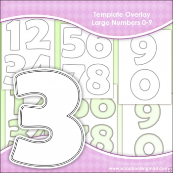 picture regarding Large Printable Numbers 0-9 titled Template Overlay Superior Figures 0-9 - £1.00
