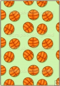 A4 Backing Papers Single - Green Basketball - REF_BP_163