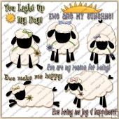 Ewe Make Me Happy ClipArt Graphic Collection