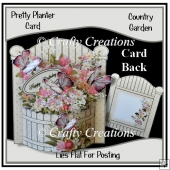 Pretty Planter Card - Country Garden