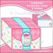 Confection Recipe Box, Cards & Dividers