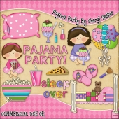 Pajama Party ClipArt Graphic Collection