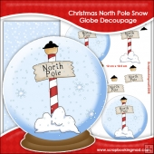 Christmas North Pole Snow Globe Decoupage Download