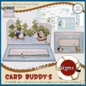 Penguin Playtime Shaped Easel Card Kit