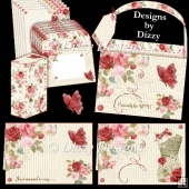 Roses & Butterflies Tailored For You Tote & Stationery Set