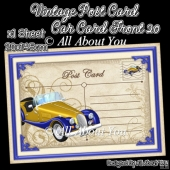 Vintage Post Card Car Card Front 20