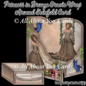 Princess in Bronze Ornate Wrap Around Gatefold Card
