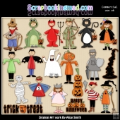 Halloween ClipArt Graphic Collection 2