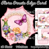 Flora Ornate Edge Card