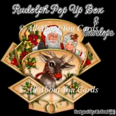 Rudolph Pop Up Box Card & Envelope