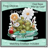 Oval Based Pop Up - Frog Chorus