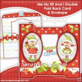 Me My Elf And I Oval Double Foldback Card