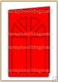 Tri Fold Window Card Template Overlay PDF Sheet