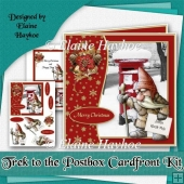 Trek to the Postbox Christmas Cardfront Kit