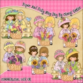 Piper And Polly May Day ClipArt Graphic Collection