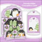 Snowbudies Concertina Card & Envelope