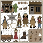 Wild West 1 ClipArt Graphic Collection