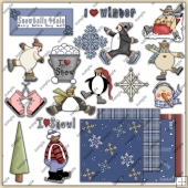 Winter Thyme ClipArt Graphic Collection 3