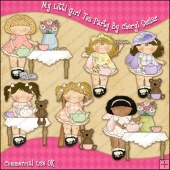 My Littl Girl Tea Party ClipArt Graphic Collection