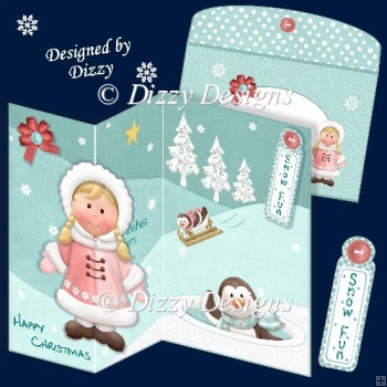 Eskimo Girl and Friends Card Kit