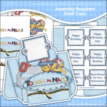 Assembly Required Shelf Card & Card Box