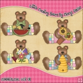 Little Country Bears ClipArt Graphic Collection