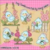 Tiny Tweets Love Pink ClipArt Graphic Collection