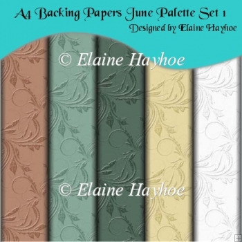 A4 Backing Papers June Palette Set 1