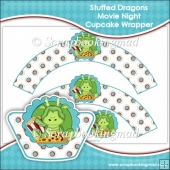 Stuffed Dragons Movie Night Cupcake Wrapper