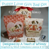 Puppy Love Gift Bag Set